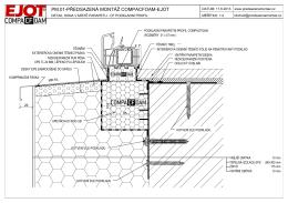Detail okna v místě parapetu – CF podkladní profil