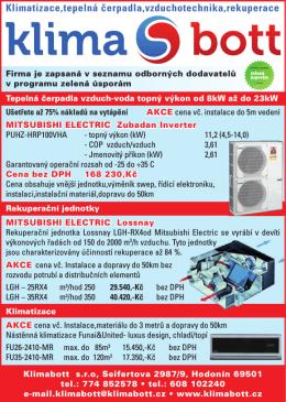 Klimatizace,tepelná čerpadla,vzduchotechnika,rekuperace