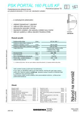 Nové PSK 160 PLUS montážní návod KF