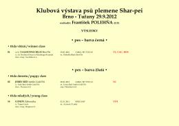 Klubová výstava psů plemene Shar-pei Brno - Shar