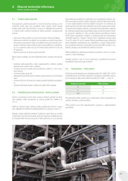 Kapitola A - Obecné technické informace