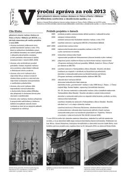Výroční zpráva klubu za rok 2013 - Mělnický osvětový a okrašlovací