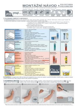 Návod na lepení polystyrenových a polyuretanových prvků