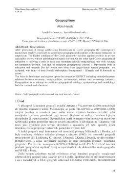 Geographium Alois Hynek 1 Úvod