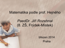 Matematika podle prof. Hejného