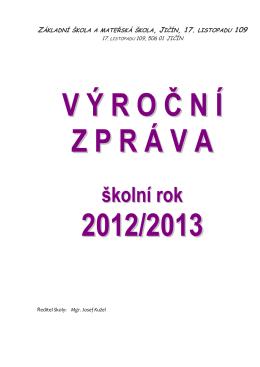 Výroční zpráva 2012/2013 - Základní škola a mateřská škola