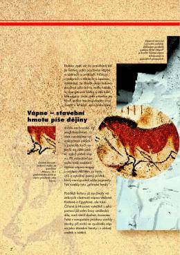 Vápno – stavební hmota píše dějiny