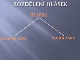 Rozdělení hlásek - zskomornilhotka.cz