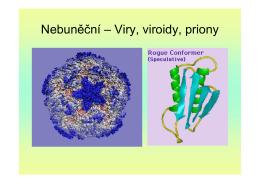 Nebuněční – Viry, viroidy, priony