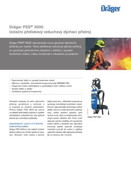 Dräger PSS® 3000 Izolační přetlakový vzduchový dýchací přístroj