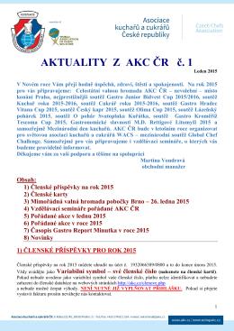 Aktuality z AKC ČR č. 1