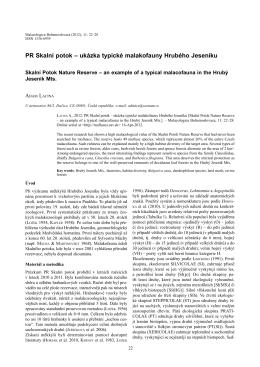 PR Skalní potok - Malacologica Bohemoslovaca
