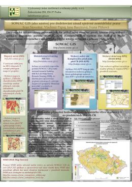 Snímek 1 - Geoportál SOWAC-GIS