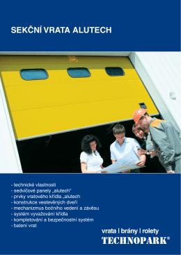 Sekční vrata Alutech (pdf)