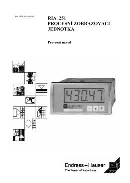 ria 251 procesní zobrazovací jednotka - E