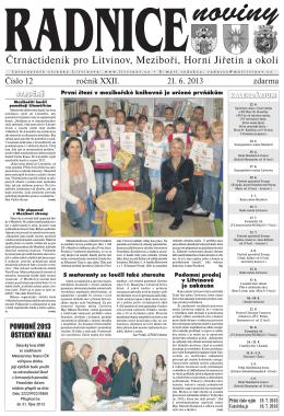 Regionální čtrnáctideník Radnice - 21.6.2013
