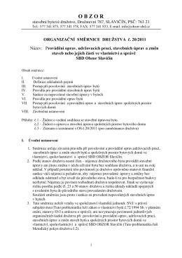 Směrnice č. 20/2011 - Provádění oprav, udržovacích praci