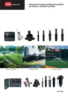 Mezinárodní katalog závlahových produktů pro domácí