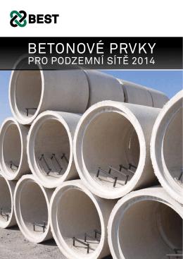 Betonové prvky pro podzemní sítě 2014, včetně ceníku