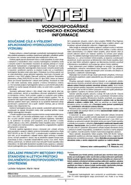 II/2010 Mimořádné číslo - Výzkumný ústav vodohospodářský T. G.