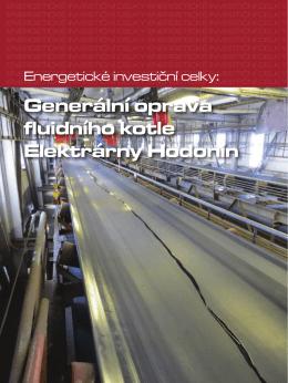 Generální oprava fluidního kotle Elektrárny Hodonín