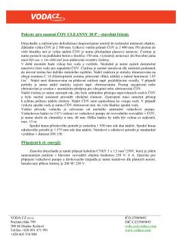 Stavební připravenost CLEANNY 30P (pdf, 79 kB)