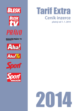 Tarif Extra - CZECH NEWS CENTER as