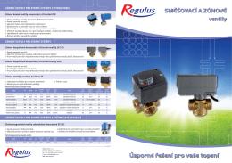 Prospekt - Zonové a směšovací ventily