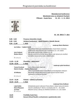 Programová pozvánka na konferenci