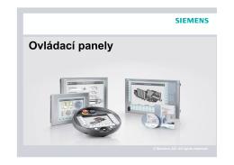 Ovládací panely - Siemens, s.r.o.