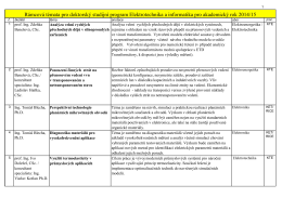 Rámcová témata pro doktorský studijní program Elektrotechnika a