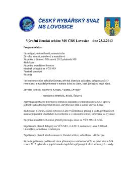 Zápis - MO ČRS Litoměřice