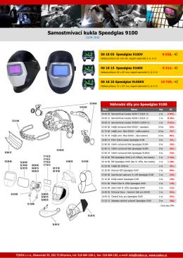 Samostmívací kukla Speedglas 9100