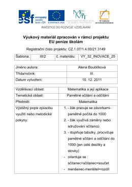 VY_32_INOVACE_25_Pracovní list