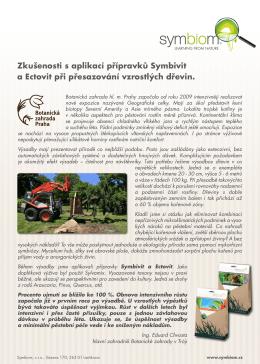 Zkušenosti s aplikací přípravků Symbivit a Ectovit při