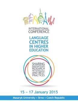 15 − 17 January 2015 - Centrum jazykového vzdělávání MU