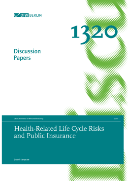 Health-Related Life Cycle Risks and Public Insurance