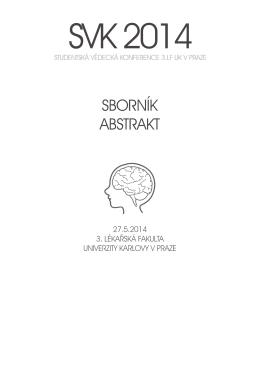 abstracts in pdf - Trimed - Univerzita Karlova v Praze