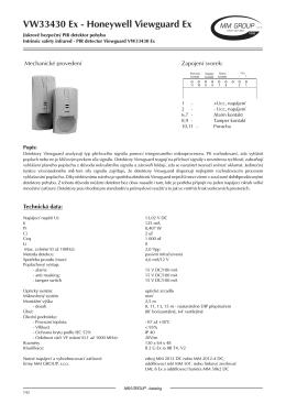 Detektor pohybu PIR VIEWGUARD 33430 Ex