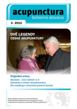 2012 - 3 - Česká lékařská akupunkturistická společnost