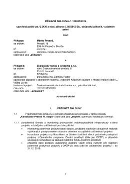 PŘÍKAZNÍ SMLOUVA č. 120055/2014