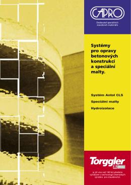 Systémy pro opravy betonových konstrukcí a speciální malty.