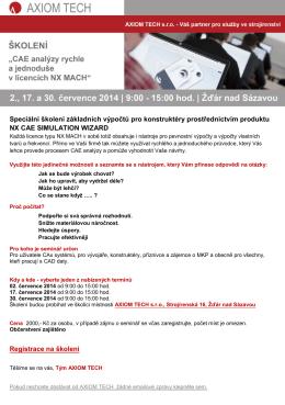Speciální školení základních výpočtů pro konstruktéry