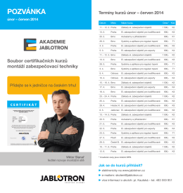 POZVÁNKA - Jablotron