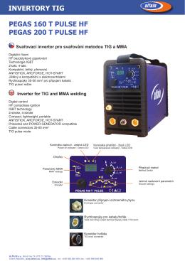 PEGAS 160-200 T PULSE HF prospekt.pdf - Svářečky