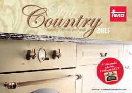 Leták spotřebičů Country styl