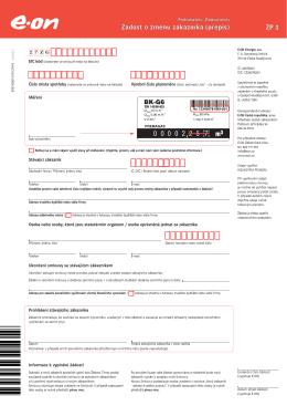 Žádost o změnu zákazníka (přepis)