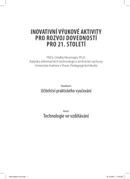 InovatIvní výukové aktIvIty pro rozvoj dovedností pro 21. století