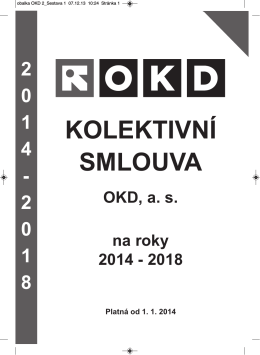Kolektivní smlouva 2014 - 2018 (PDF)