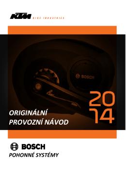 Návod pohonu Bosch 2014/15